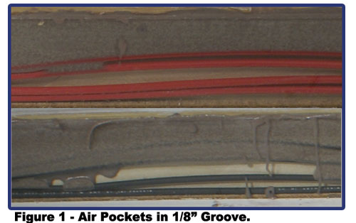 "Air Pocket in 1/8"" Groove"