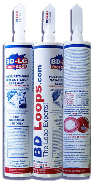 "Polyurethane Saw-Cut Loop Sealant with Flat 3/16"" Sealant Tip"