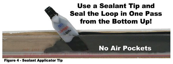 Sealant Tip - Seal the groove in one pass!