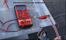Inductance reading of untwisted loop