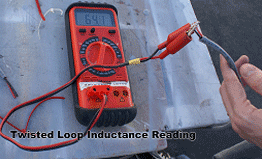Inductance reading of twisted loop